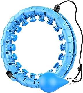 Smart Hula Hoop, avtagbar justerbar tunn midja buk övning fitnessutrustning, 360° auto-spinning icke-droppande med mjuk gr...