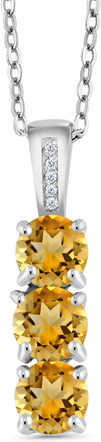 Gem Max 76% OFF Stone King 1.39 Ct Round Max 56% OFF Ster Yellow Diamond Citrine and 925