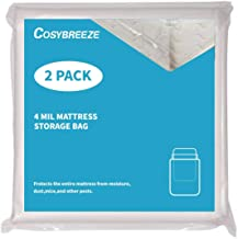 Mattress Bag for Moving, Long-Term Storage and Disposal, [2-Pack] Queen Size 4 Mil Thick Heavy Duty Mattress Protector Covers Box Spring - 76 x 96Inch