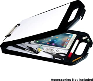Sunnyclip Plastic Storage Clipboard with Handle, Compartment Hold 200 Letter Sized Paper..