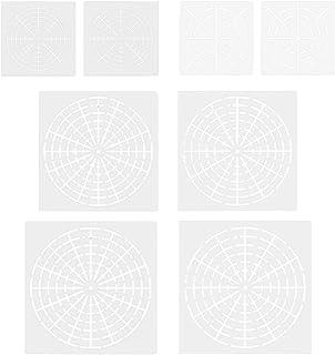 8 UNIDS Reutilizable Mylar Mandala Dotting Plantillas de Pintura Herramientas para DIY Artesanía Muebles Rocas de