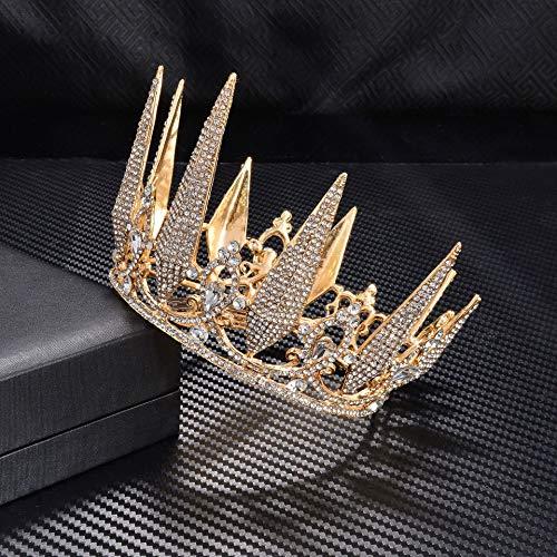 El ltimo Adorno Para El Cabello Con Corona Rubia Pequea De La Novia De Moda Emergente