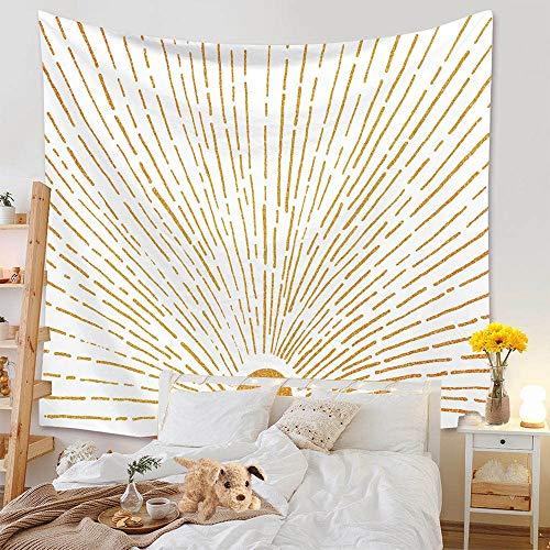 Tapiz nórdico con arcoíris, sol y luna, elefante, tapiz montado en la pared, tapiz de playa, tapiz de tela de fondo, A4 130x150cm