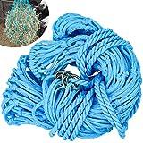 Winfred Rete per Fieno Extra Fine, Rete da 5 cm, Moschettone, Alimentazione Approssimativa 10 kg, blu