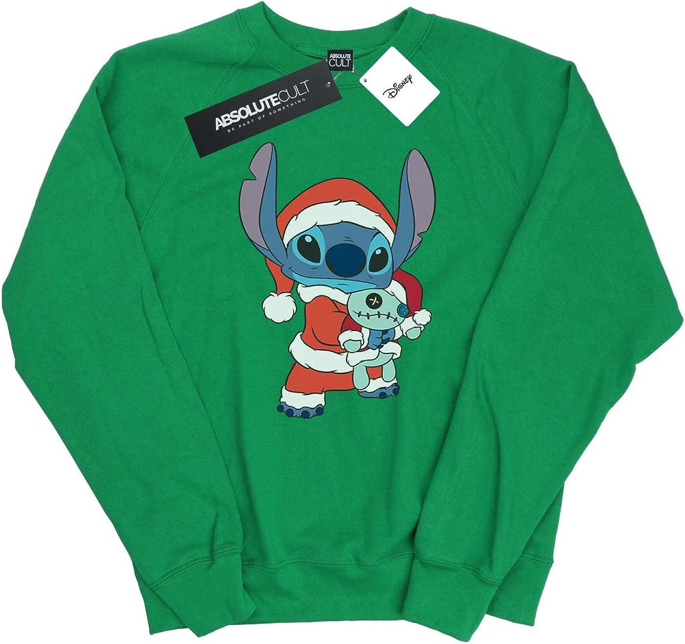 Disney Womens Lilo and Stitch Stitch Christmas Sweatshirt