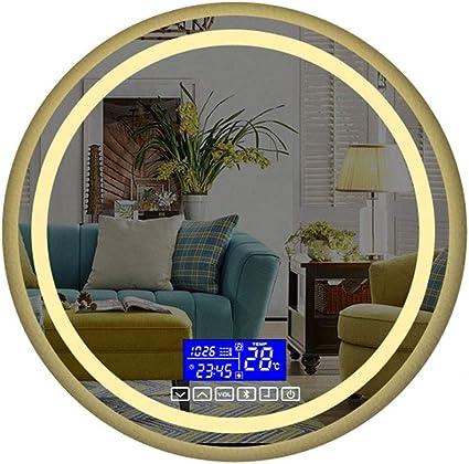 Wz 700 X 700mm Illuminato Led Specchio Da Bagno Con Incassato Bluetooth Altoparlante Demister E Toccare Sensore Temperatura Color Warm Light Size 700mm Amazon It Casa E Cucina