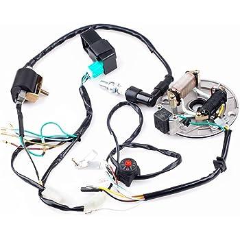 amazon.com: cisno kick start dirt pit bike wire harness wiring loom cdi  coil magneto 50-125cc: automotive  amazon.com
