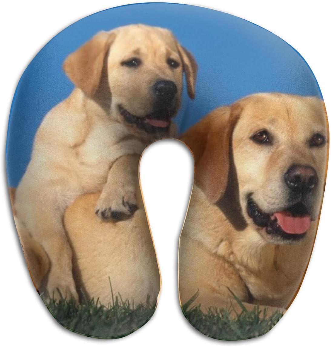 KIENGG Yellow Labrador Retriever U Ranking Super sale period limited TOP8 Shaped Neck Case Memor Pillow