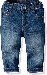 HOSD2019 Pantalones de Mezclilla para niños en los Pantalones de Primavera de algodón de niño Grande