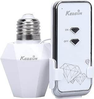 KEDSUM Wireless Remote Control E26/E27 Light Bulb Socket Remote Controller Switch, Wireless Light Switch Kit, Remote Lighting Fixtures for Lighting Lamp and Fixtures