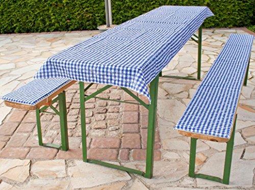 beo mfz13 FZ 100/2 Lu Tente auflagen Kit pour 70 cm, Tables, 2 Banc 220 x 25 cm avec 1 Nappe 240 x 100 cm
