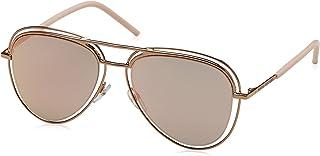 49b689e3f026 Marc Jacobs Metal Aviator Sunglasses 54 026J Redgd Pink (0J gray rose gold  lens)
