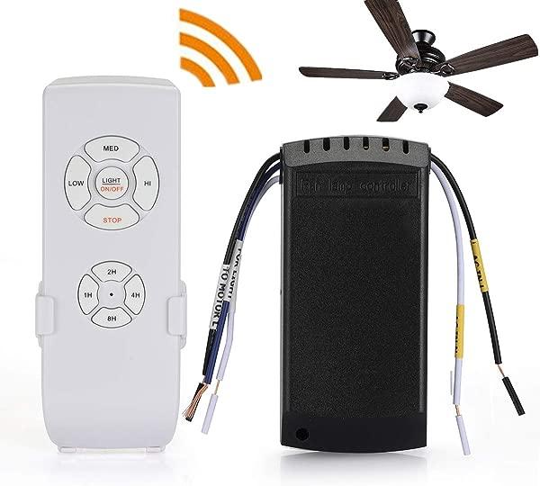 QIACHIP Ceiling Fan Remote Control Kit WI FI Smart Universal Ceiling Fan With Amazon Alexa