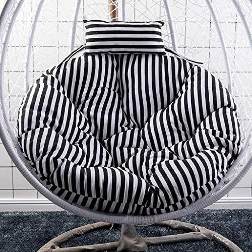 Oscilación del amortiguador del asiento trasero de la silla grueso que cuelga con la almohadilla Colgando huevo Hamaca Silla de amortiguación for interiores o exteriores, diámetro 120 cm-nido (Color: