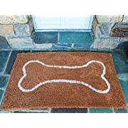 Soggy Doggy 26-Inch by 36-Inch Microfiber Chenille Doormat for Wet Dog Paws, Caramel, Large