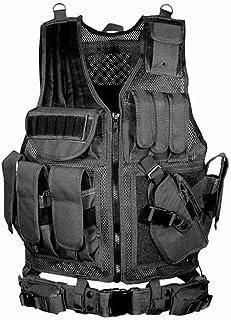 Gilet tactique Veste tactique Quickly Strip off Fournitures police et les militaires Viktion engins tactiques /équipement de plein air pour Airsoft camping randonn/ée arm/ée Jungle Adventure alpinisme