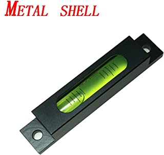 79MM High Precision Metal Straightener Small Horizontal Bar Leveling Bar Column Horizontal Bubble Square Horizontal Bubble Glass-Green