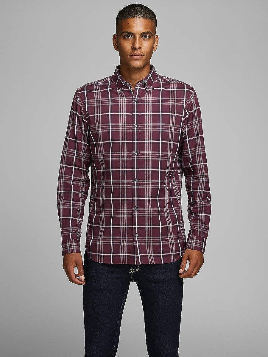 JACK /& JONES Jprfocus Check Shirt L//S Camicia Uomo