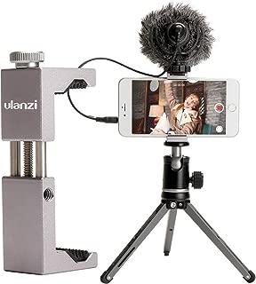 Ulanzi スマートフォン用ホルダー dji osmo pocketスマホクリップ iphone xr xs 三脚マウント 一脚/三脚/自撮り棒用 1/4インチネジ