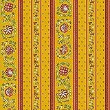 Tissu au mètre coton provençale vence jaune R linéaire