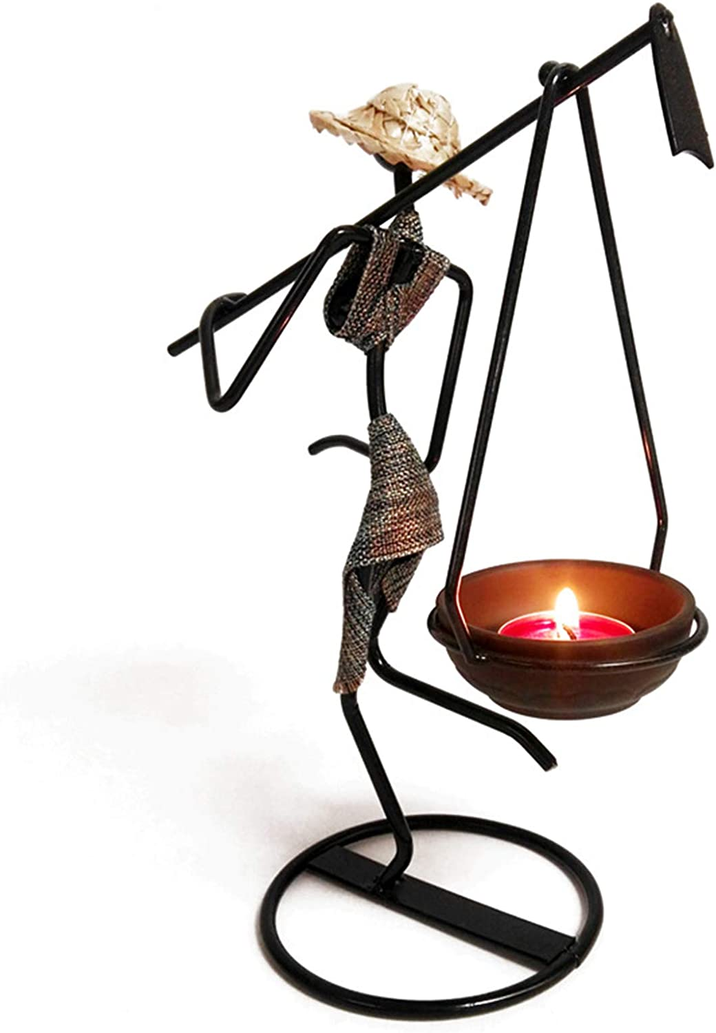 Oakland Mall LINNSZ Nordic Metal Candlestick Abstract S Girl Ethnic Large special price !! Character