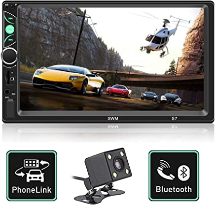 $47 Get Double Din Car Stereo 7 Inch Touch Screen Car MP5 Player Support Backup Rear View Camera FM Radio Car Audio with Hands-Free Mirror Link