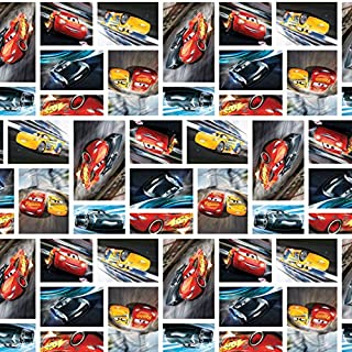 Disney Fabric Disney Cars Fabric See You On the Track by the yard