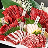 馬刺し 国産熊本 熊本 盛り合わせ 6種食べ比べセット 翔 400g 8人前 赤身 霜降り ユッケ (通常セット)