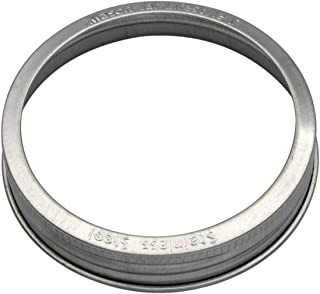 Mason Jar Lifestyle Stainless Steel Rust Proof Bands/Rings with Stamped Logo (5 Pack, Wide Mouth)