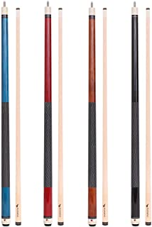 FADAZAI 4 Cues Sticks Pool Sticks 19.5 oz 58 inch Billiard House Bar Pool Cues