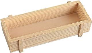 """لونغ تاو 8.2 """"× 3.1"""" × 1.6 """" الخشب النضر مزارع حاوية مربع زهرة مستطيلة السرير للديكور مكان المنزل"""