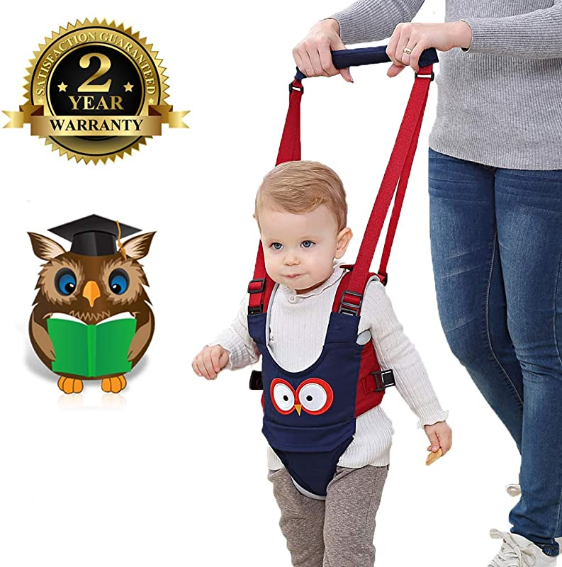 Baby Walker Adjustable Baby Walking Harness Safety Harnesses Pulling And Lifting Dual Use 7 24 Month Breathable Stand Up Walking Learning Helper For Infant Child Activity Walker Blue