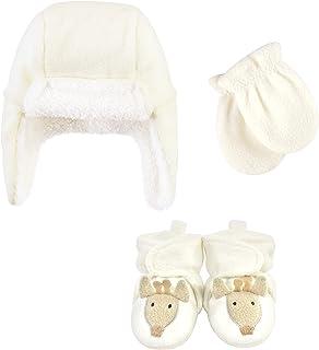 Hudson Baby Czapka chwytakowa unisex, zestaw rękawiczek i butów, żyrafa, 0-6 miesięcy