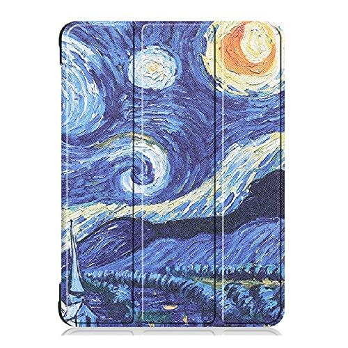 QiuKui Tab Funda para Samsung Galaxy Tab S4 10.5 Pulgadas T830 T835, Tri-Fold Auto Sleep Wake Wake Smart PUSP PU de Cuero PU de la Cubierta del Soporte para Samsung Galaxy Tab S4 10.5 Pulgadas