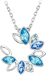 Kingou Necklaces for women Pendant Crystals from Swaroski Lady Jewelry Valentines Gifts with Luxury Packing