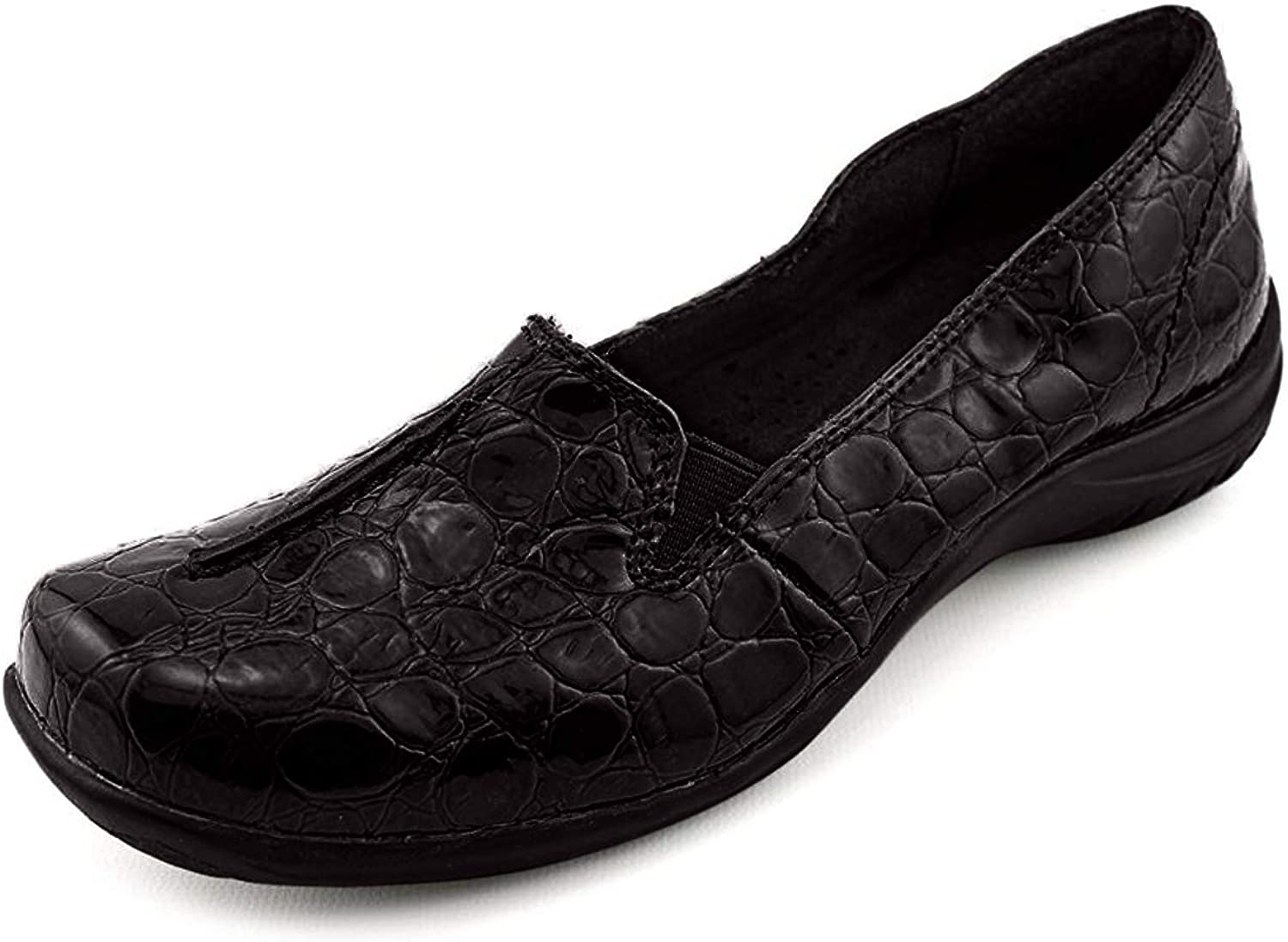 Easy Street Womens Purpose Closed Toe Loafers, Black, Size 7.5