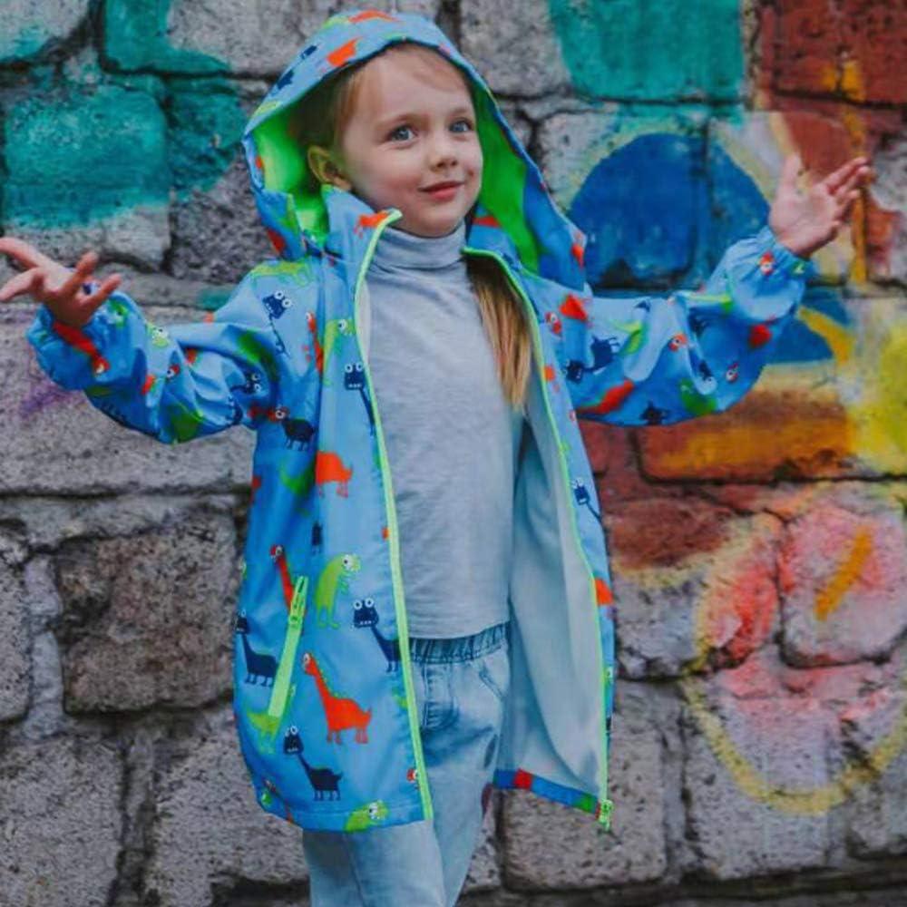 HZXVic Toddler Boys Raincoat Waterproof,Lightweight Kids Rain Poncho Jacket Windbreaker Outwear Coat