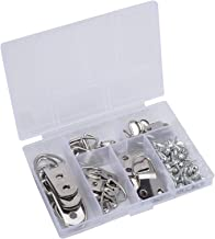 Ankerpunt 66 stks zilveren fotolijst haak foto frame klok muur opknoping D-ring hardware accessoires Veelgebruikte bevesti...