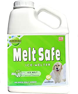 Cleen Products MELT Safe - Ice Melt for Pets - 10-lb Size - Safe for use as a Snow and ice Melter on driveways and Sidewalks - Easy-Shake Container