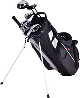 "GYMAX Golf Bag, Golf Stand Bag Lightweight Cart Bag with 5 Way Dividers 8.5"""