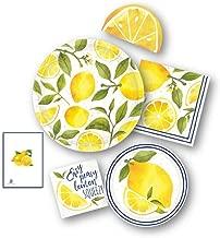 lemon yellow party supplies