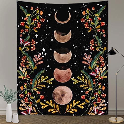 KHKJ Tapiz psicodélico de Hongos, Tapiz Colorido Abstracto Trippy, tapices para Colgar en la Pared para el hogar, Dormitorio, decoración de fantasía A26, 150x130cm