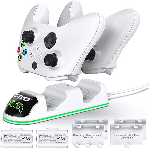 OIVO Chargeur avec 2 Rechargeable Batterie pour Xbox One/Xbox Series X/S Manette, Station de Chargement avec 2 x 1300...