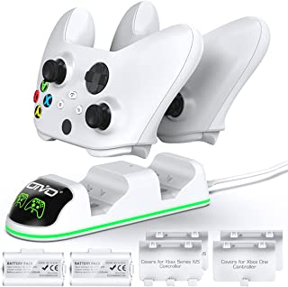 OIVO Controller Charger Compatible with Xbox Series, One/S/X Controller, Dual Charging Station Updated LED Strap,Charger D...