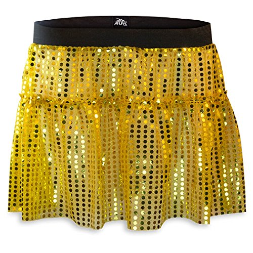 Running Costume Tutu Skirt by Gone For a Run | Glitter Sequined Tutu | Gold, One Size