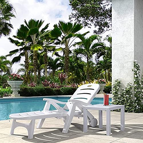 NC ZSCC Sillas de Patio reclinables portátiles, sillón de Playa Plegable con...