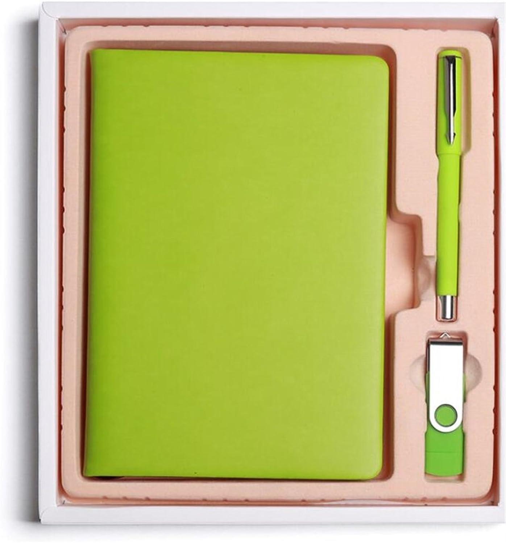 Neues Semester Delicate Pu Leder Journal Geschenk Set kreative Tagebuch Tagebuch Tagebuch Stift mit U-Disk (grün) B07M847BNS | Qualität zuerst  | Elegant  | Online Outlet Store  7b28e9
