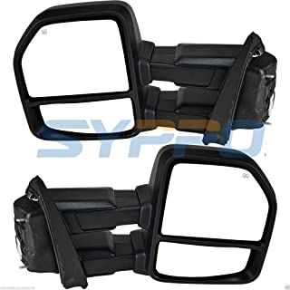 Nova Towing Mirror for Ford F150 15 16 17 Truck Driver/Passenger Side Mirror Tow Mirrors Set Pair (Texture Black)