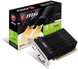 MSI GeForce GT 1030 2GH OC GeForce GT 1030 2GB GDDR5 - Tarjeta gráfica (NVIDIA, GeForce GT 1030, 1265 MHz, 1518 MHz, 2 GB, GDDR5)