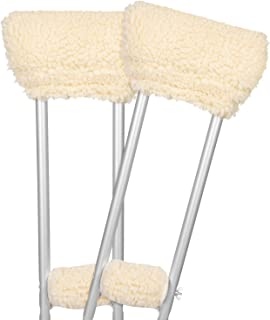 Vive Sheepskin Crutch Pads – Padding for Walking Arm Crutches – Universal..
